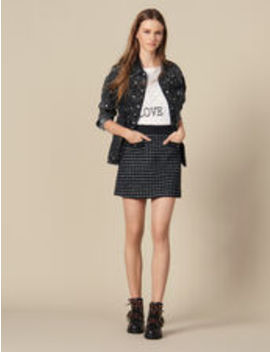 Short A Line Tweed Skirt by Sandro Eshop