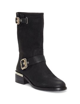 Windy Leather Mid Calf Boots by Vince Camuto