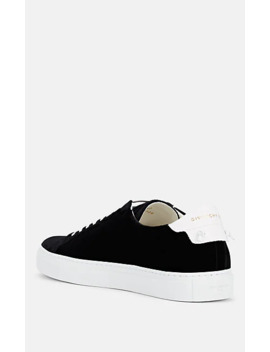 Men's Urban Street Velvet & Leather Sneakers by Givenchy