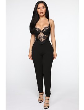 Win You Over Lace Jumpsuit   Black by Fashion Nova