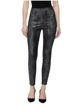 Darcy Pull On Leather Zip Skinny Jean by J Brand