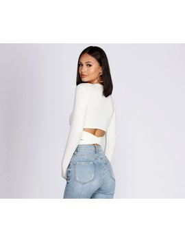 Wrap Waist Ribbed Crop Top by Windsor
