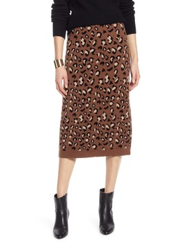 Leopard Sweater Skirt by Halogen