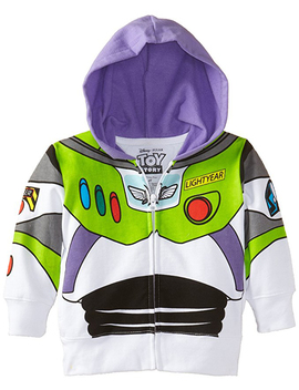 Buzz Lightyear Costume Zip Up Hoodie Sweatshirt (Toddler Boys) by Toy Story