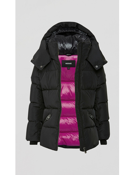 Classic Down Coat With Removable Hood by Madisynmadisyn
