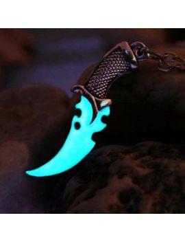 Knife Necklace Pendant Luminous Locket Magic Jewels Us Moon Glow Dark Steampunk by Ebay Seller