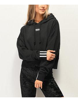 Adidas R.Y.V. Black Crop Hoodie by Adidas