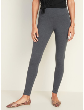 High Waisted Jersey Leggings For Women by Old Navy