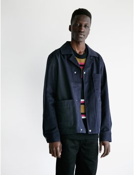 Omar Brushed Cotton Twill Navy by Acne Studios