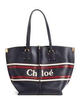 Vick Logo Embossed Leather Tote by ChloÉ