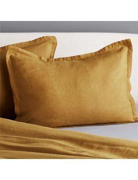 Linen Dijon King Shams Set Of 2 by Crate&Barrel