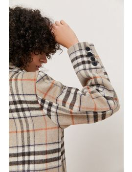 Native Youth Chrissy Plaid Wool Overcoat by Native Youth