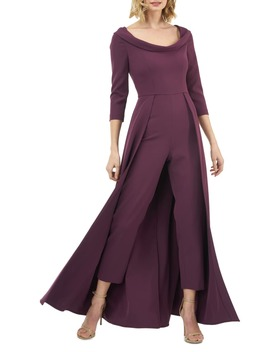Crepe Maxi Romper by Kay Unger