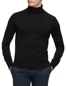 Turtleneck Wool Sweater by Calvin Klein