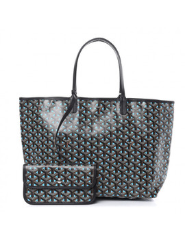 Goyard Goyardine Saint Louis Claire Voie Pm Black Blue by Goyard