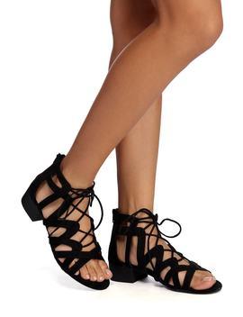 Lace It Craze Block Heel Sandal by Windsor