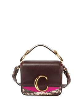 C Mini Lizard Embossed Top Handle Bag by Chloe