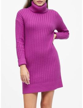 Petite Chunky Turtleneck Sweater Dress by Banana Repbulic