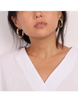 Bold Hoop Earrings, Chunky Hoop Earrings, Gold Hoop Earrings, Light Weight Hoops, Hoop Earrings Silver, Thick Hollow Hoops, Boho Chic by Etsy