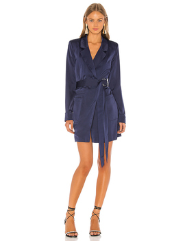 Pip Trench Dress In Blueberry by Nbd