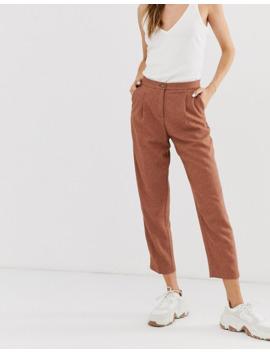 Monki Tailored Peg Pants In Rust by Monki