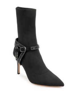 Eternity Knit Embellished Ankle Bootie by Badgley Mischka