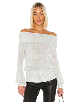 Elsa Sweater In Silver Sequins by Lovers + Friends
