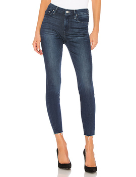 High Waisted Looker Ankle Fray In Tongue And Chic by Mother