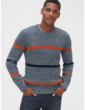 Marled Stripe Crewneck Sweater by Gap