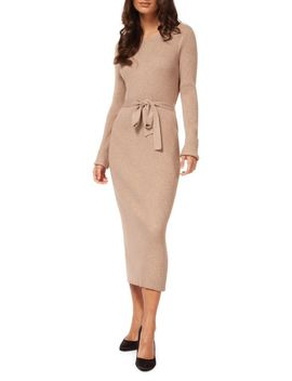 Cotton Blend Sweater Dress by Dex