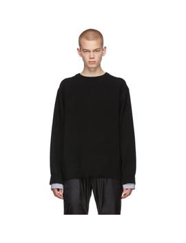 Black Layered Crewneck Sweater by Juun.J