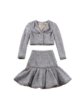 Le Palais Vintage 2018 Fw Classic Dazzle Tweeds Mermaid Skirt Slim High Rise Ruffles Type And Thicken Short Jacket Two Piece Suit by Ali Express.Com