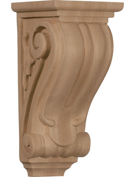 "Medium Classical Corbel, Red Oak, 4 1/2""W X 5""D X 10""H by Ekena Millwork"