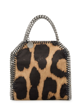 Falabella Tiny Leopard Top Handle Bag by Stella Mc Cartney