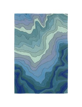 Vandenbosch Hand Tufted Blue Indoor/Outdoor Area Rug by Wrought Studio