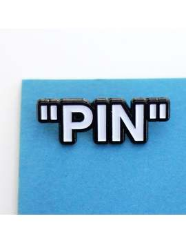 Pin   Streetwear Inspired Off White Soft Enamel Pin Badge by Etsy