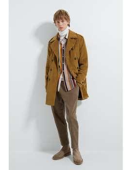 Trenchcoat Aus Feincord by Zara
