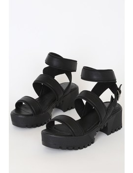 Franciscan Black Platform Sandals by Lulu's
