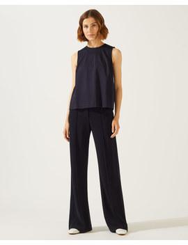 Sport Luxe Jersey Wide Leg Trouser by Jigsaw