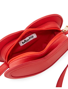 Kids' Heart Shaped Faux Leather Crossbody Bag by Molo