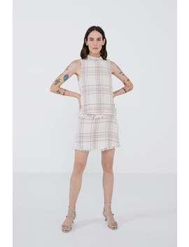 Check Tweed Skirt by Zara