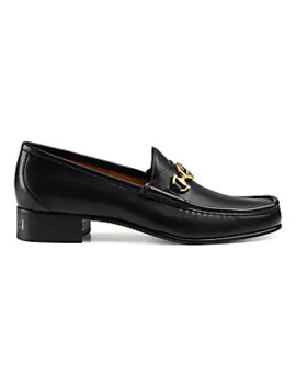 Roos Tack Leather Loafers by Gucci