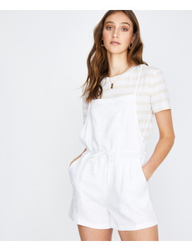 Palmy Linen Playsuit White by Au
