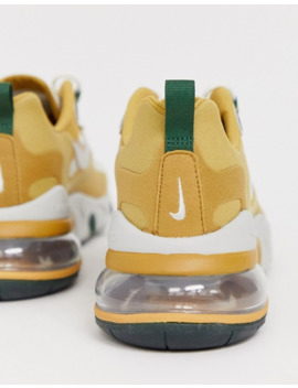 Nike Air Max 270 React Trainers In Gold Ao4971 700 by Nike