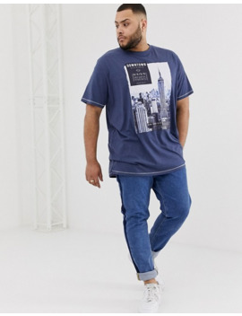 Duke King Size T Shirt With Downtown Ny Print by Duke