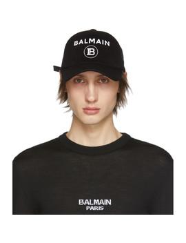 Black Logo Cap by Balmain