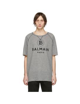 Black & White Raw Edge T Shirt by Balmain