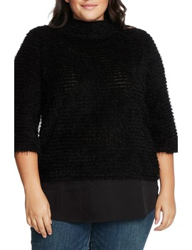 Eyelash Chenille Sweater by Vince Camuto