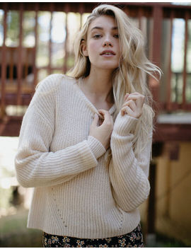 Ivy & Main Basic Cream Womens Sweater by Tilly's