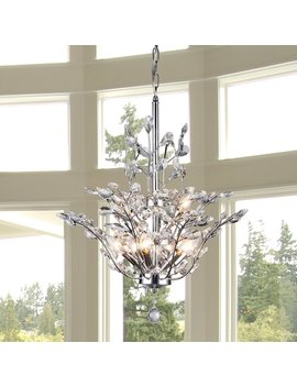 Brookleigh Leaf 9 Light Candle Style Chandelier by Rosdorf Park